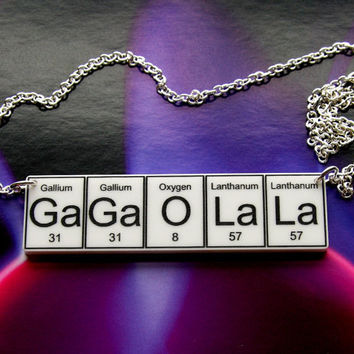 GaGa O La La Necklace periodic table inspired by WendyJNZ