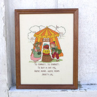 Nursery Rhyme Mother Goose Children's / Kid's Room Decor Vintage