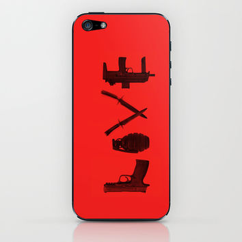 LOVE - Bloody Valentine iPhone & iPod Skin by Catalin Anastase