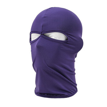 Outdoor Full Cover 2 Holes Face Mask Head Neck Balaclava Cycling Bike Hijab Caps TQ1