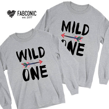 Mild One, Wild One, Best Friend Sweatshirts, Mild One Wild One Sweatshirt, Best Friend Matching Sweatshirts, Best Friend Sweaters