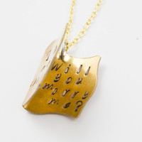 Proposal Necklace - Engagement Jewelry - The Next Chapter, Will You Marry Me?