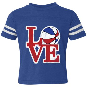 Philly Hoops Love Toddler Football Fine Jersey T-Shirt