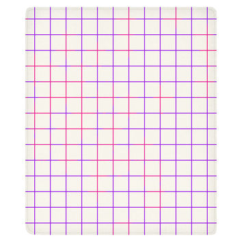 Purple Pink Grid Fleece Throw