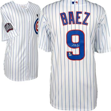 Javier Baez Signed Autographed Chicago Cubs Baseball Jersey (MLB Authenticated)