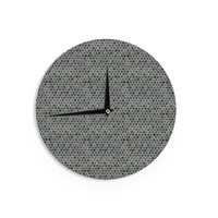 "Petit Griffin ""Marble"" Gray Abstract Wall Clock"