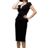 Stop Staring! OBSESSION Dress in Black - XL