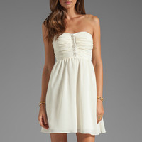 MM Couture by Miss Me Strapless Dress in Ivory from REVOLVEclothing.com