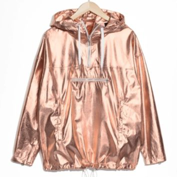 & Other Stories | Metallic Anorak | Bronze/Copper