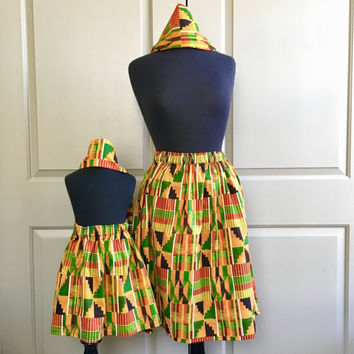 Mommy and Me Kente African Skirts