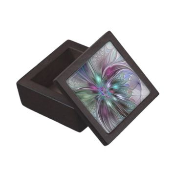 Colorful Fantasy, abstract and modern Fractal Art Gift Box