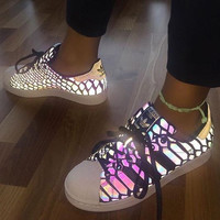 """Adidas"" Women Reflective Chameleon Casual Running Sneakers Sport Shoes"