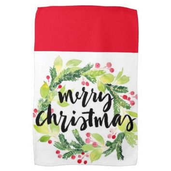 "Merry Christmas Everyone Kitchen Towel 16"" x 24"""