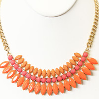 Bright Coral Bridgette Necklace Set