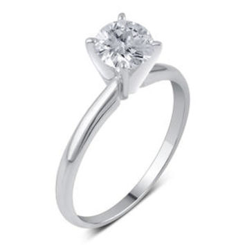 1/2 Cttw. Round Cut 14K White Gold Diamond Engagement Ring - Kmart