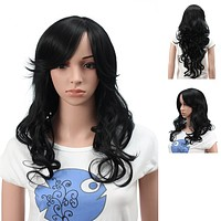 Long Synthetic Stylish Straight Wig Spiky Fluffy Layered Full Head Wigs