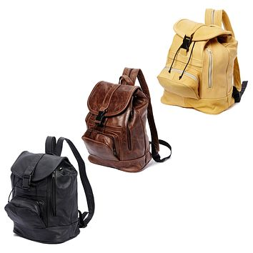 Genuine Leather Backpack with Convertible Straps