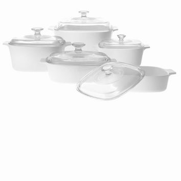 CorningWare Classic Square 10pc Casserole Set