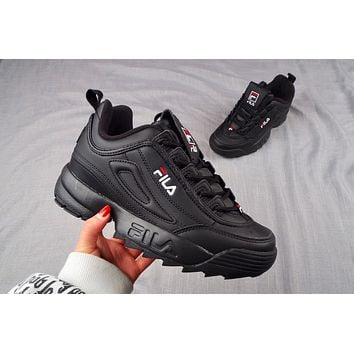 FILA  Disruptor Big Sawtooth Thick Bottom Increasing Leg Repairing Hundreds of Jogging Shoes
