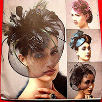 Womens Vogue Hat Pattern, for sewing Vintage Style Retro 1930s 1940s Uncut