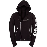 Disney Fleece Asymmetric Biker Jacket Jack Skellington Hoodie for Women | Disney Store