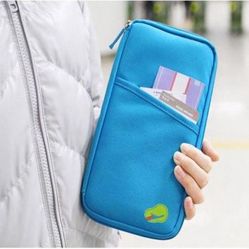 ONETOW New Arrive Korean Style Passport Wallet Travelus Polyester Multifunction Credit Card Package ID Holder Travel Storage Bag