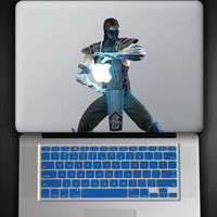 Royal Blue Keyboard Cover and Sub Zero Decal COMBO for Macbook Pro / Air 13""