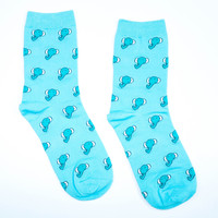 Blue Elephant Socks