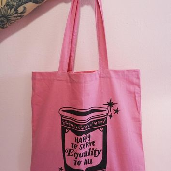 Happy to Serve Equality to All Canvas Tote Bag