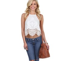 Sale- White San Lucas Halter Top