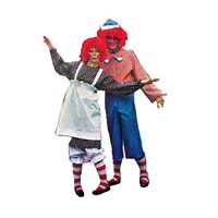 """1970's McCall's 5254 Woman's and Men's Raggedy Ann and Andy Costumes Size Small 