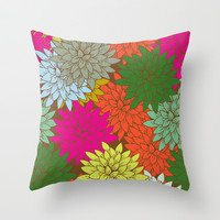 flora Throw Pillow by holli zollinger