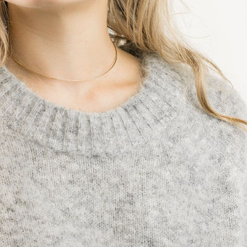 Thin Choker Necklace / Dainty Collar Necklace / Layering Necklace in 14k Gold Fill or Sterling Silver / GN133
