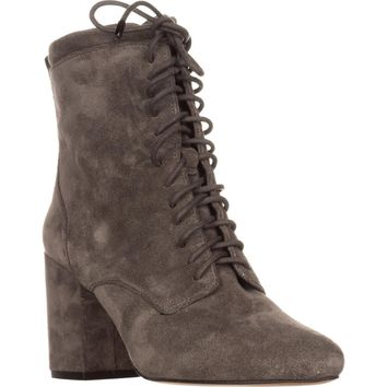 Rebecca Minkoff Lila Lace Up Ankle Boots, Charcoal, 7.5 US