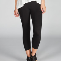 Full Tilt Womens Capri Leggings Black  In Sizes