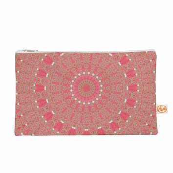 "Sylvia Cook ""Boho Hearts Coral"" Pink Orange Everything Bag"
