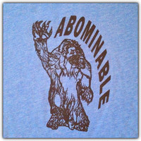Abominable Snowman tshirt screen printed Yeti by HENCEFORTH33
