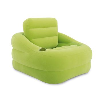 Intex Inflatable Indoor or Outdoor Accent Chair with Cup Holder, Green | 68586EP