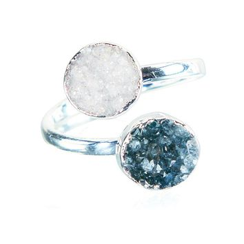 Day to Night Double Druzy Ring
