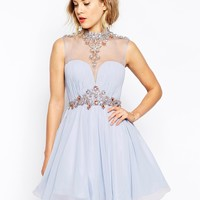 Forever Unique Embellished Prom Dress With Tulle Skirt