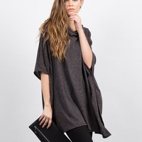 Oversized Poncho Top