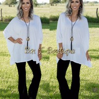Oversized Dolman ~ White