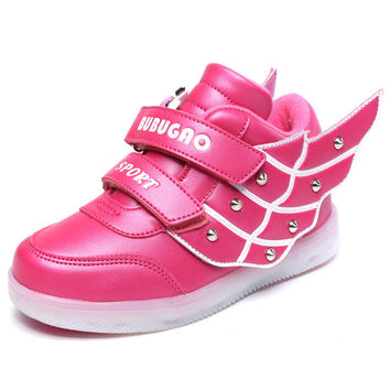 Casual Hot Sale Hot Deal Comfort Stylish On Sale Summer Lights Shoes Lightning Korean Children Sneakers [4919267972]