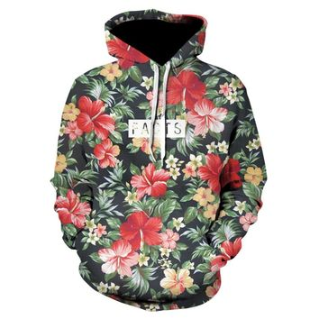 2018 New Fashion Men/Women Hoodies Print Flowers 3d Sweatshirts Hoody Thin Hooded Graphic Hoodies Pullover Tops