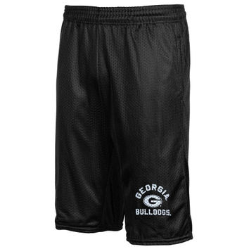Georgia Bulldogs Basic Mesh Shorts – Black