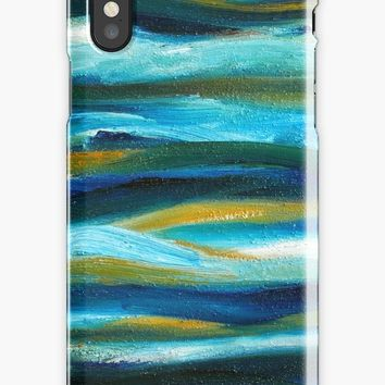 'Turquoise Sea' iPhone Case/Skin by Maria Meester