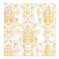 Gold Damask Shower Curtain on CafePress.com