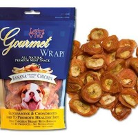 Loving Pets Gourmet Wraps Banana & Chicken Treats 8 oz