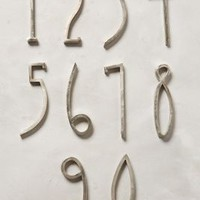 Hand-Welded House Number by Anthropologie