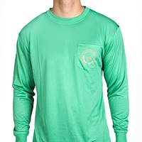 FieldTec Pocket Tee - Long Sleeve in Bimini Green by Southern Marsh